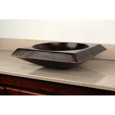 Bonaire Above Counter Square Vessel Bathroom Sink Finish: Dark Smoke Copper