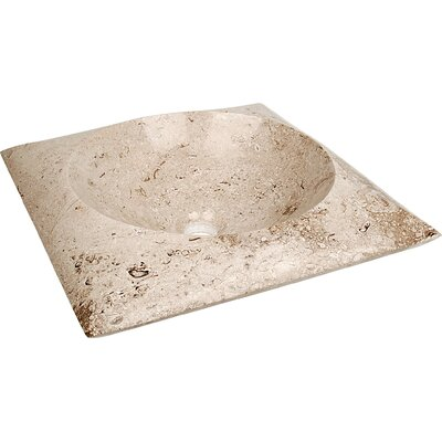 Natural Stone Sinks Stone Square Vessel Bathroom Sink Sink Finish: Coral Marble