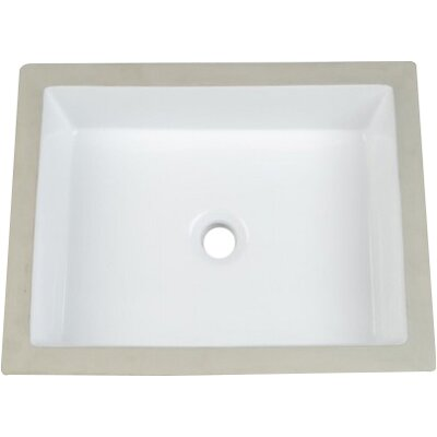 Vitreous China Rectangular Undermount Bathroom Sink with Overflow Sink Finish: Biscuit