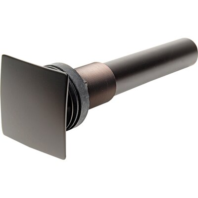 Square Operable Umbrella 1.25 Pop-Up Bathroom Sink Drain With Overflow Finish: Oil Rubbed Bronze
