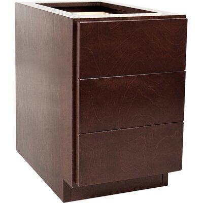 MDV Modular Cabinetry 18 W x 25.5 H Cabinet Finish: Espresso