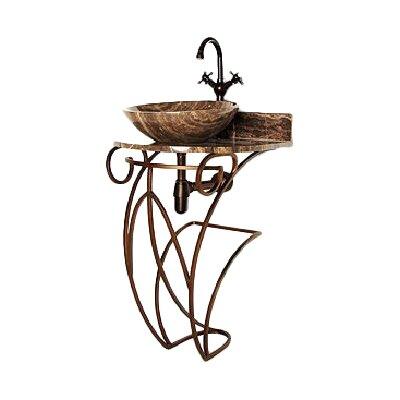 Iron Victoria 17 Single Pedestal Bathroom Vanity Base Base Finish: Antique Bronze