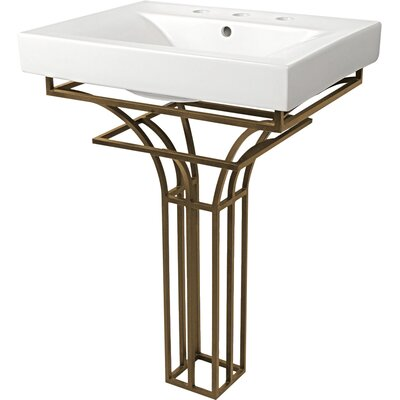 Iron Virtus 24 Single Pedestal Bathroom Vanity Set Base Finish: Antique Bronze