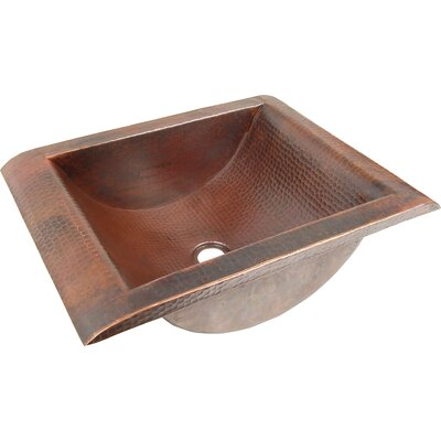 Copper Bathroom Sinks Metal Rectangular Undermount Bathroom Sink Finish: Dark Smoke Copper