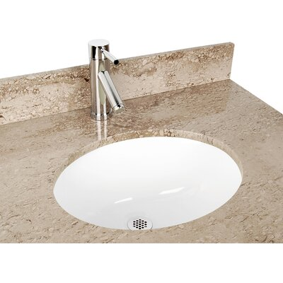 Ceramic Oval Undermount Bathroom Sink Color: White