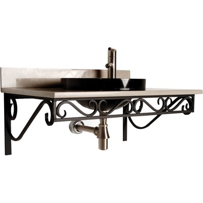 Iron 30 Single Bathroom Vanity Top Finish: Black Iron