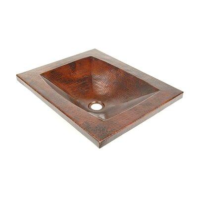 Copper Bathroom Sinks Metal Rectangular Undermount Bathroom Sink Finish: Dark Smoke Copper