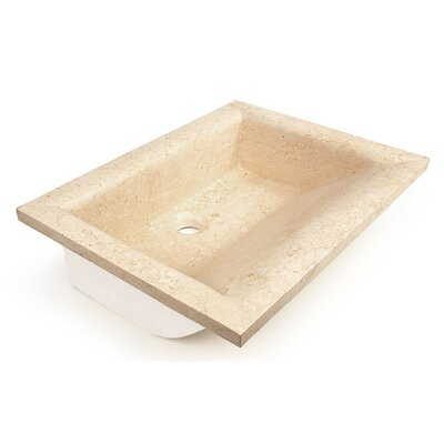 Natural Stone Nassau Rectangular Vessel Bathroom Sink Sink Finish: Beige Travertine