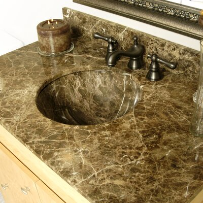 Round Undermount Bathroom Sink Sink Finish: Dark Emperadore Marble