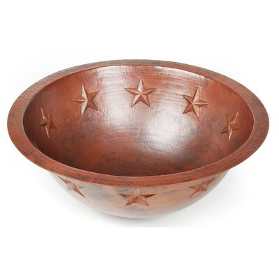 Texas Star Circular Undermount Bathroom Sink Finish: Shiny Copper, Edge: Rolled