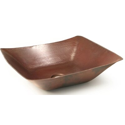 Del Mar Rectangular Vessel Bathroom Sink Finish: Dark Smoke Copper