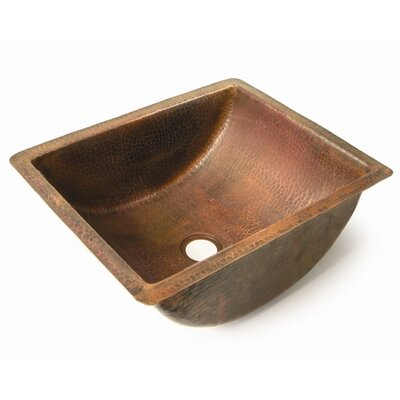 Plain Barrel Rectangular Undermount Bathroom Sink Finish: Dark Smoke Copper