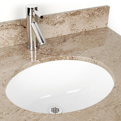 Small China Oval Undermount sink Bathroom Sink Color: White