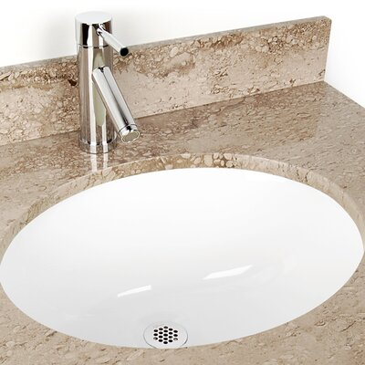 Oval Undermount Bathroom Sink Color: White
