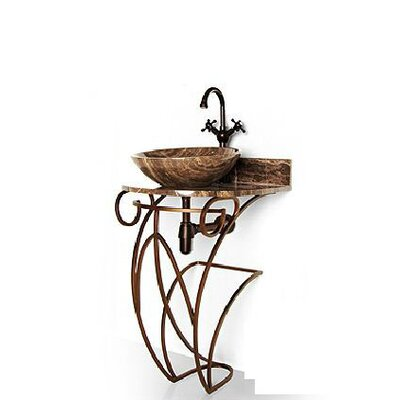 "Iron Victoria 17"" Single Pedestal Bathroom Vanity Base Base Finish: Antique Bronze"