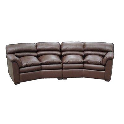 Canyon Conversation Leather Sofa
