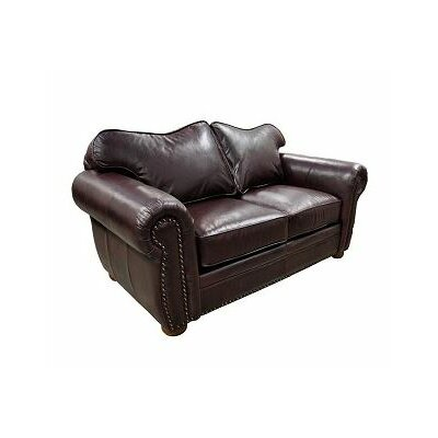 Monte Carlo Leather Loveseat