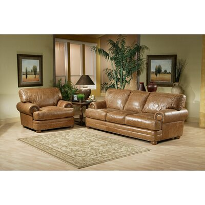 Omnia Leather HOU-LRS Houston Leather Living Room Set