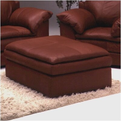 Encino Cocktail Leather Ottoman