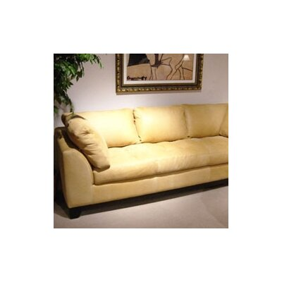 Espasio Leather  Sofa Body Fabric: Empire - Chocolate, Cushion Fill: Standard Cushions, Leg Color: Espresso
