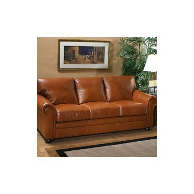 Omnia Furniture Georgia 3 Seat Sofa Georgia Leather Sofa