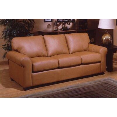 Omnia Furniture POL-QS West Point Queen Leather Sleeper Sofa