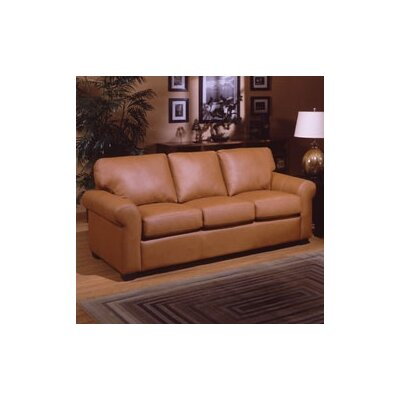 Omnia Furniture Polo Queen Sleeper West Point Leather Sleeper Sofa