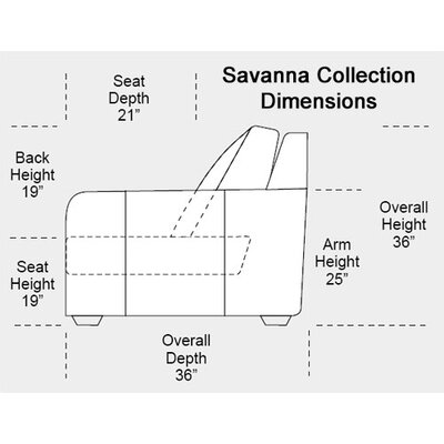 Savannah Leather Club Chair
