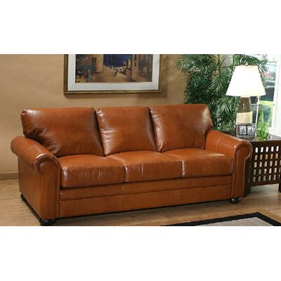 Omnia Leather Georgia Leather 3 Seat Sofa Living Room Set
