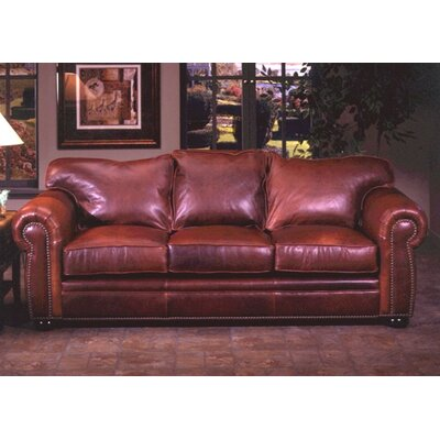 Omnia Leather MON-3LRS Monte Carlo Leather 3 Seat Sofa Living Room Set