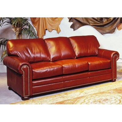 Omnia Furniture SAV-FS Savannah Full Leather Sleeper Sofa