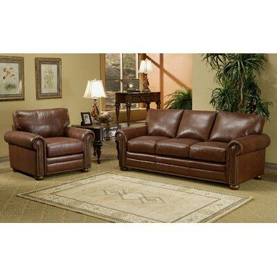 Savannah Leather 3 Seat Sofa Living Room Set