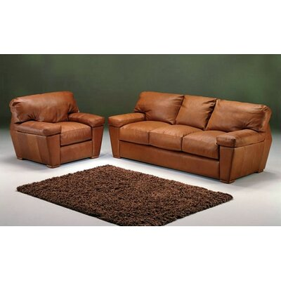 Omnia Furniture PRE-3S Prescott Leather Sofa