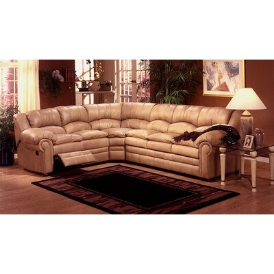 Riviera Leather Sleeper Sectional