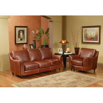 kathy ireland home by omnia great texas 3 seat leather sofa set sofa