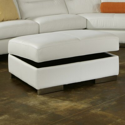 Park Tower Leather Storage Ottoman