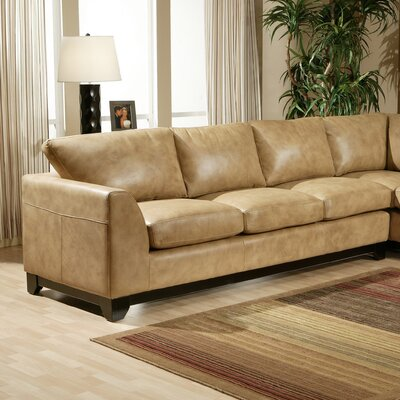 Omnia Furniture CIT-4S City Sleek Leather Sofa