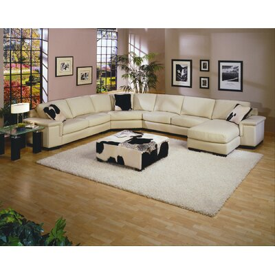 MER – SEC Omnia Leather Sectionals