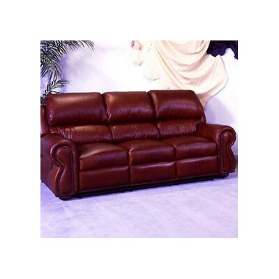 Omnia Furniture COR-FS Cordova Full Leather Sleeper Sofa