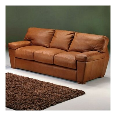 Omnia Furniture Prescott 3 Seat Sofa Prescott Leather Sofa