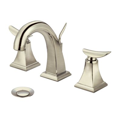 Bathroom Faucet Double Handle with Drain Assembly Finish: Brushed Nickel