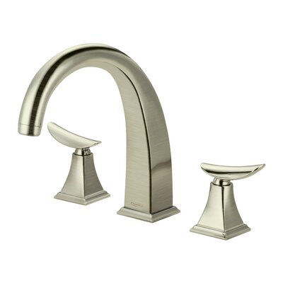 Widespread Bathroom Faucet Double Handle Finish: Brushed Nickel