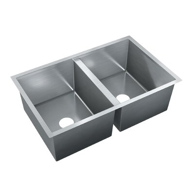 31.5 x 20 Double Bowl Undermount Kitchen Sink