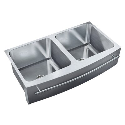36 x 19.5 Double Bowl Undermount Kitchen Sink