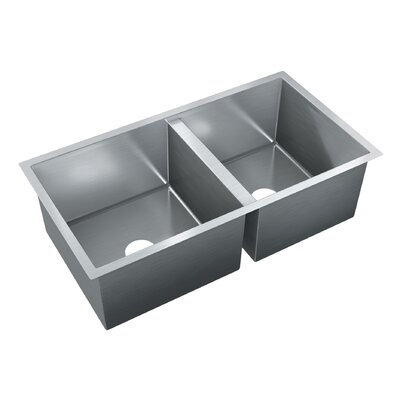 33.5 x 18 Double Bowl Undermount Kitchen Sink