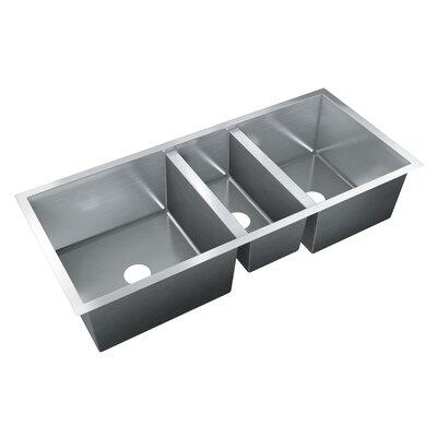 45 X 18 Triple Bowl Undermount Kitchen Sink