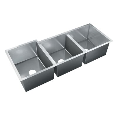 47 x 20 Triple Bowl Undermount Kitchen Sink