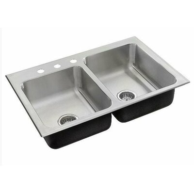 29 x 15 Double Bowl Drop-In Kitchen Sink