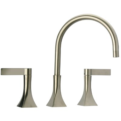 Double Handle Widespread Deck Mounted Kitchen Faucet Finish: Brushed Nickel