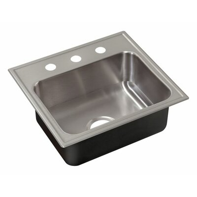 25 x 22 Single Bowl Drop-In Kitchen Sink